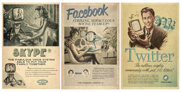 Social Vintage Ads / Everything Ages Fast
