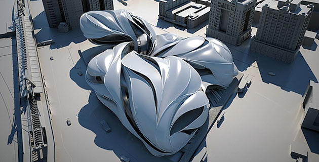 Futuristic Taipei Performing Arts Center