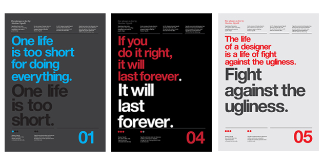 Vignelli Forever | Poster tribute by Anthony Neil Dart
