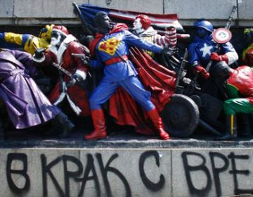 Soviet Army Monument Transformed into Superheroes