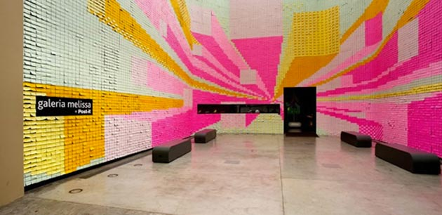 350000 post-it notes | video