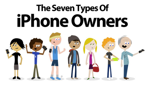 7 types iphone users