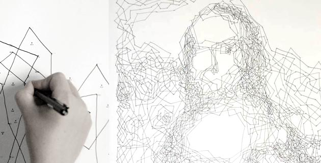 Mona Lisa in 6,239 Dots