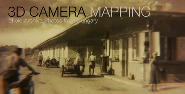 3D Camera Mapping old Photos