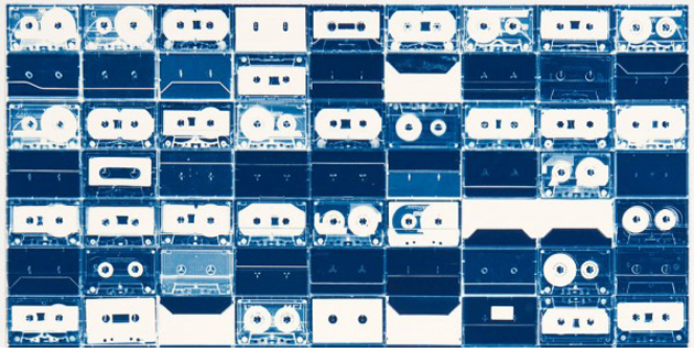 Cassette Tape Cyanotypes