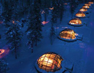 Glass Igloos Ice Hotel