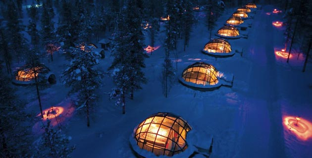 Glass Igloos Ice Hotel