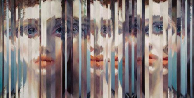 Sliced Portraits by Amanda Clyne