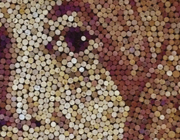 Portraits created from Corks