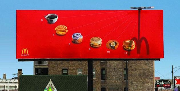 McDonald's Sundial Billboard