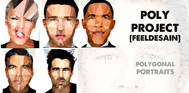 Polygonal PORTRAITS | FEEL DESAIN