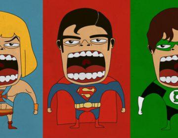 Screaming superheroes by Roberto Salvador