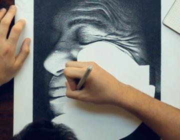 Hero | Ink Dots Portrait