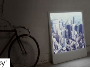 Gigantic Backlit Polaroid Photographs