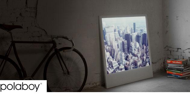 Gigantic Backlit Polaroid Photographs