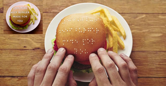 Wimpy | Burgers with Braille Message
