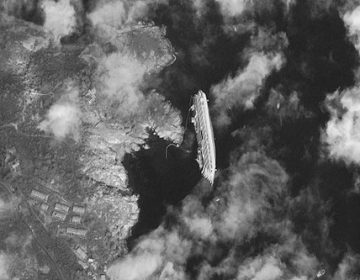 Costa Concordia From Space