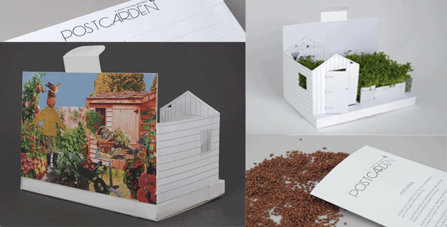 Postcarden: A Mini Living Backyard Garden