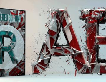 Shattered 3D Font – Free