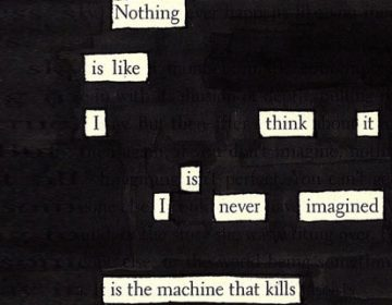 Blackout poetry | Newspaper Blackout