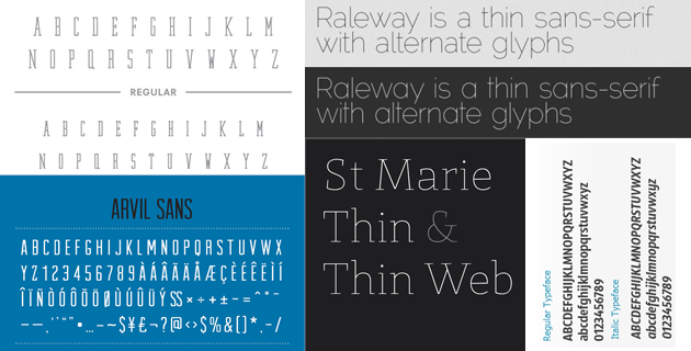 5 Free Minimal Fonts | Download