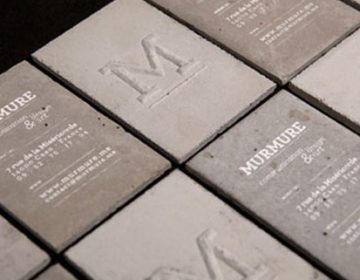 Concrete business cards | Murmure