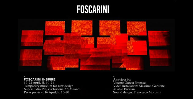 FOSCARINI INSPIRE – Milan Design Week 2012