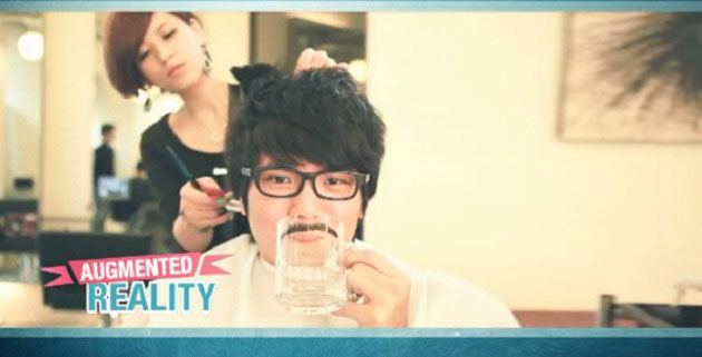 Augmented Reality Facial Hair Mugs