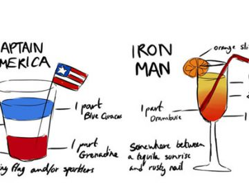 Avengers Inspired Cocktails