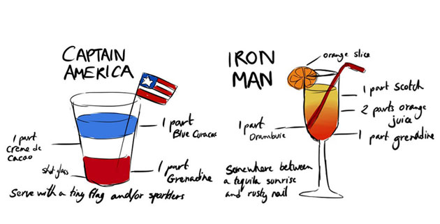 Avengers Inspired Cocktails