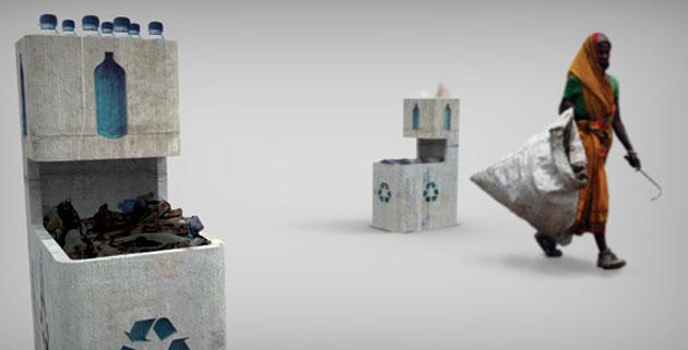 Toknee | Concrete Rubbish Bin