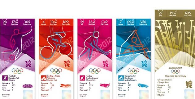 London 2012 Olympic ticket designs