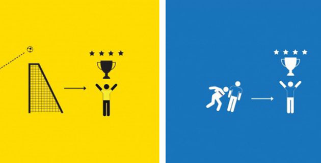 Minimalist World Cup Posters