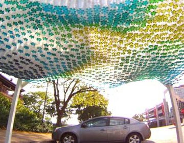 Parking Canopy | Bottles Colored