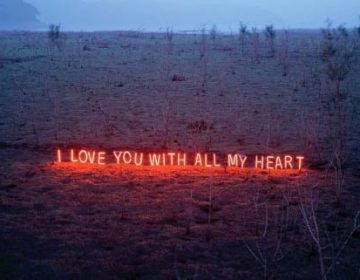 Sending Messages Glowing Neon Letters