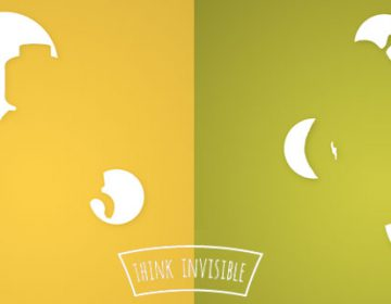 Think Invisible | Posters Using Negative Space