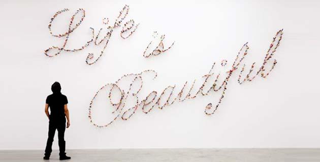 Life is Beautiful – Knife Thype Installation