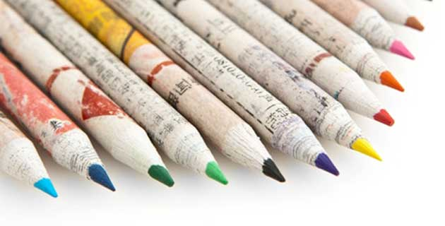 Recycled Paper Colored Pencils