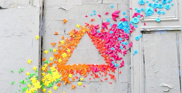 Paper Origami Rainbows