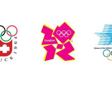 Logos of the Olympic games of the last 100 years