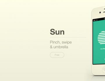 Sun | new weather web app for iOS