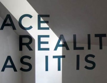 Face Reality As It Is | anamorphic typography