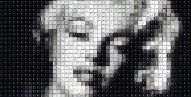 Portraits Made of Computer Keys