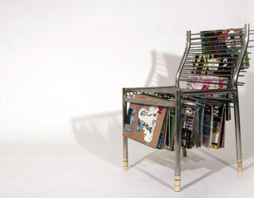 Magazine rack chair | Seung Han Lee