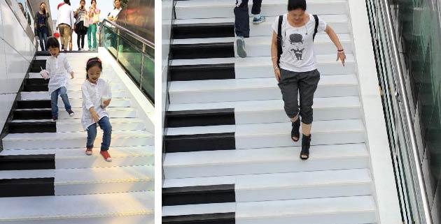 Piano Stairs Make Music