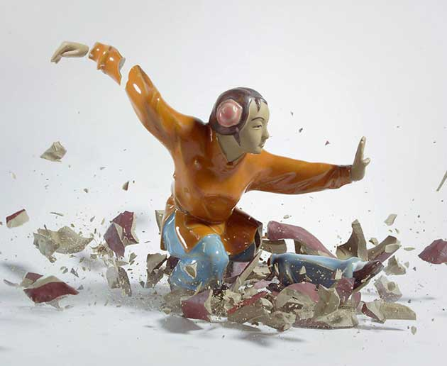 Crashing Porcelain Figures by Martin Klimas