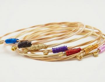 Recycled Guitar String Bracelets