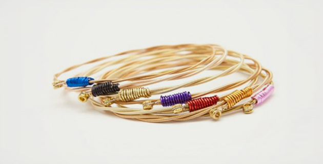 Recycled Guitar String Bracelets