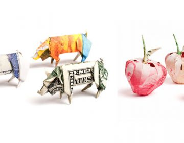 Money Origami Sculptures | Won Park