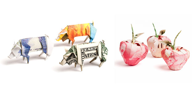 Money Origami Sculptures | Won Park